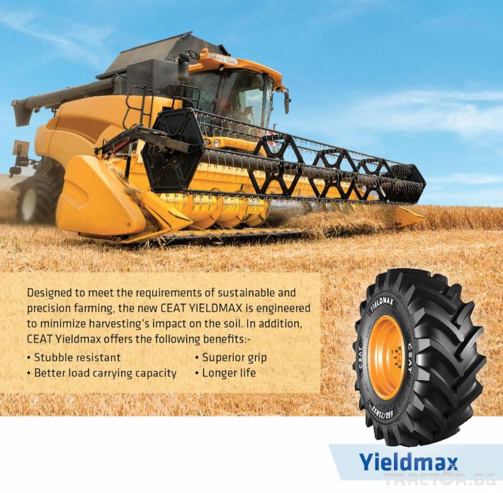 Гуми за комбайни CEAT YIELDMAX  650/75R32  CHO 172A8/B TL 2 - Трактор БГ